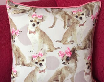 Handmade Chihuahua Cushion Cover
