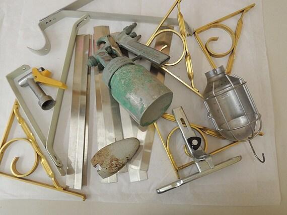 Vintage Mixed Metal Salvage Hardware For Assemblage Art Sculpture & Craft Supply.. Huge 6 lb Lot (#11)