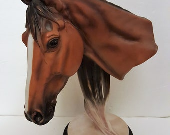 Resin Horse Head on Stand