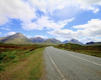 Scotland Photography, Isle of Skye Photography, Mountain Photos, Travel Print, Road Trip Print, Scotland Prints, Travel Road Print