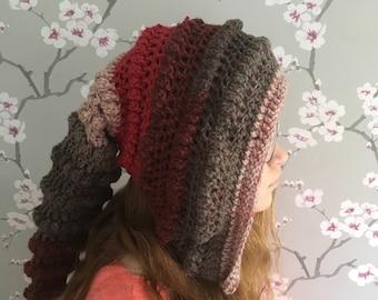 PDF crochet pattern - pdf pattern - crochet hood pattern - pixie hood pattern - elf hat pattern - snood pattern - crochet hat pattern