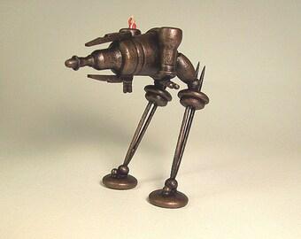 Steampunk Rhino Ray Gun Tank bipède Walker SUPER détaillé tous les bois Miniature