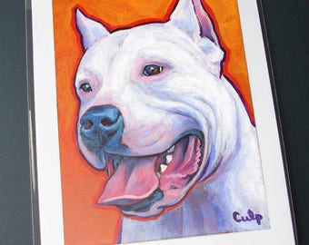 DOGO ARGENTINO 8x10 Signed Art Print of Dog Painting by Lynn Culp