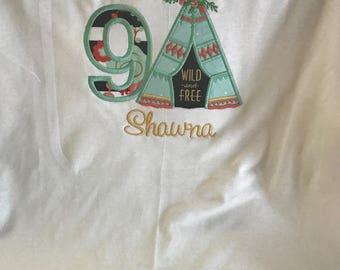 Monogram Birthday shirt