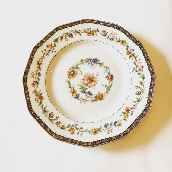 Vintage Plate - Theodore Haviland Limoges France Chateaudun Pattern - France Vintage China Floral Pattern Salad Plate