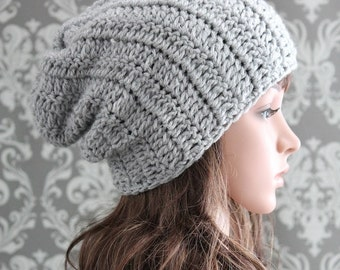 Crochet PATTERN - Crochet Hat Pattern - Slouchy Hat Crochet Pattern - Crochet Pattern Hat - Baby, Toddler, Kids, Adult Sizes - PDF 288