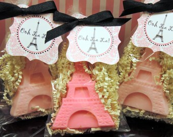 20 Eiffel Tower Soap, Paris Party Favors, Bridal Shower, Lingerie Party, Baby Shower, Birthday,  Paris Party, Eiffel Tower Soaps