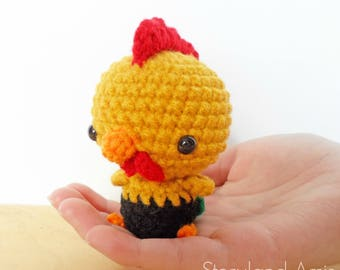 PATTERN: Chinese New Year rooster amigurumi, crocheted rooster pattern, rooster toy tutorial, PDF crochet pattern