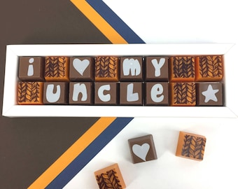 Gift for Uncle - Chocolate Gift for my Uncle - Chocolate Message for Uncle - Christmas Gift for Uncle - Chocolate Gift for Uncle