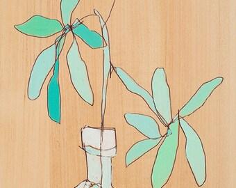 Foliage Trois Floral Canvas Print by Jennifer Mercede 24X12