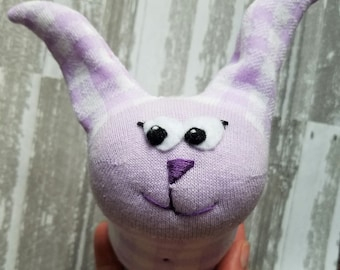 Linda Bunny, Handmade Sock Bunny Plush, Soft Toy, Plush, Easter Bunny, One of a Kind, Bunny, Rabbit Stuffed Animal