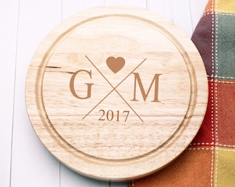 Monogrammed Heart Personalized 5pc. Cheese Board Gourmet  Set (ppdc2)