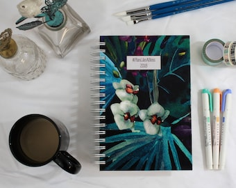 Weekly 2018 Planner-Personalized Planner-Custom Planner-Choose Start Month-12 Months-Agenda-Mini Planner-Pocket Size Planner-A5