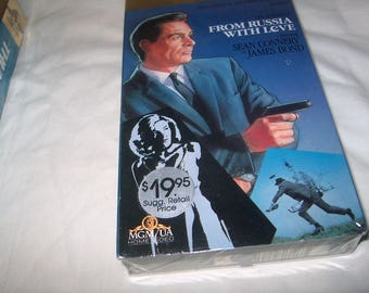 Vintage VHS Movie, James Bond 007, Factory Sealed, From Russia with Love, 1963, Home Video