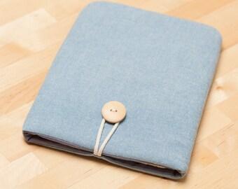 iPad case unisex / iPad sleeve / iPad cover / ipad air case /  iPad Pro case, padded,  - Light indigo -