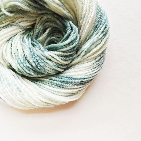 SEA CREAM hand dyed yarn speckle