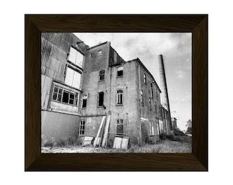urban print, industrial wall art, abandoned photo, factory poster, wall art prints, black and white printable art, urban digital download
