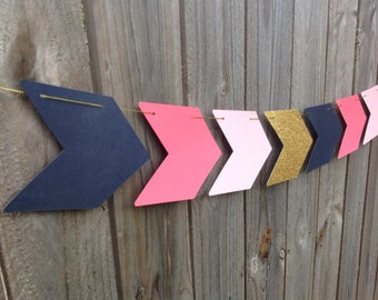 Arrow Garland Banner Bunting  - Tribal Decorations, Wild One Banner, Boho Birthday Party Engagement Wedding