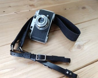 Waxed Canvas and Horween Chromexcel Leather Camera Strap