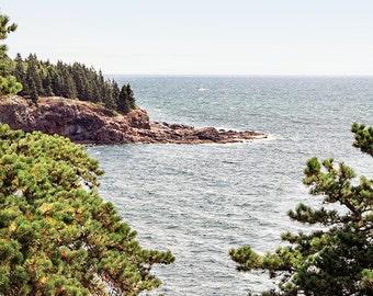 Landscape Photography, Coastal, Ocean Photography, Nature, Mountains, Cliffs, Acadia National Park, Maine Photography, Seaside Art