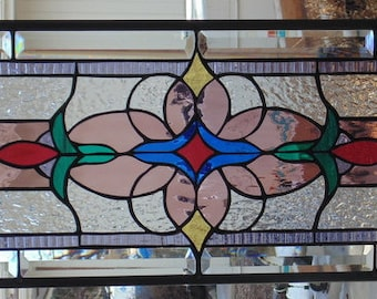 Stained Glass Window Hanging 36 X 12
