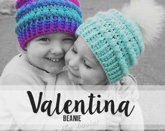 Crochet Pattern // Valentina Beanie // Easy / Intermediate