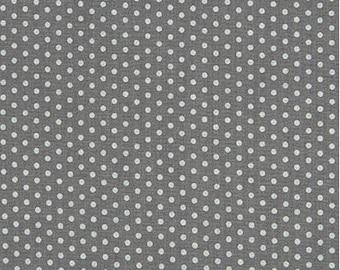"END of BOLT- 34""x44"" Spot On Pearlized Platinum MINI Dots From Robert Kaufman"