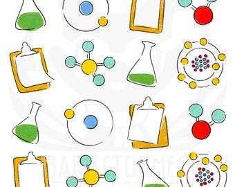 chemistry art, nerd art, baby geek, kids modern art, science classroom, science art, kids abstract art, 5x5, 8x8