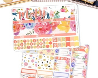 MAY Monthly View Kit Stickers for ECLP Vertical and Horizontal, Calendar Month , Month View Stickers