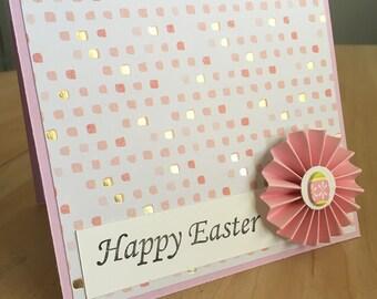 Pink Easter Egg Easter Card