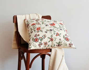 Red Floral Pillows, Pillow Covers For Couch - Flower Pillow, Romantic, Shabby Chic - Summer Flowers Pillow