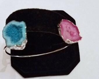 Druzy, Gemstone Cuff Bracelet