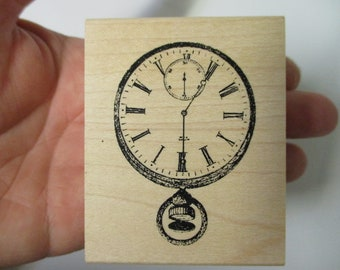 Stopwatch Rubber Stamp-Pocket Watch Stamps