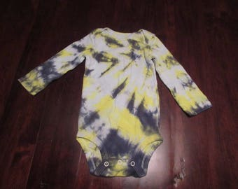 Steelers Tie Dye, Baby Tie Dye, Black and Yellow Tie Dye, Striped Tie Dye, Tie Dye Onesie, Tie Dye Bodysuit, Baby Clothes