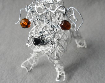 Dog Made to Order, Pet Portrait , Custom Dog Memorial ,Keepsake Gift ,Wire Dog, Wire Sculpture, Pet Bereavement Gift, Custom Dog Art