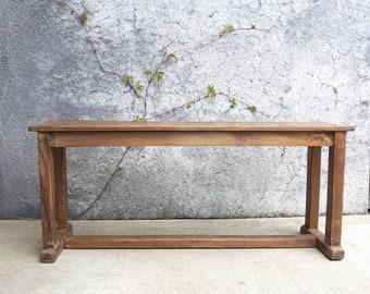 Wooden Bench Primitive Bench Natural Wood Solid Teak