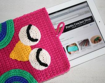 CROCHET PATTERN, Owl iPad Sleeve,Ipad Case, Handmade, Handmade Gift, Crochet, Pattern, Owl Gift, Owl Pattern, Ipad, Sleeve Pattern, EASY