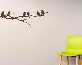 Branch With Birds Wall Decal Birds On Branch Vinyl Wall Sticker Wall Art Mural!