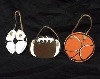 Football  Baseball  Soccer  Baseball  ornaments Sports  Christmas ornaments Gift ideas