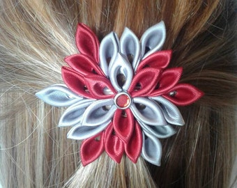 Red and Silver Spiral