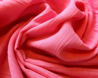 Vintage cotton gauze fabric in bubblegum pink