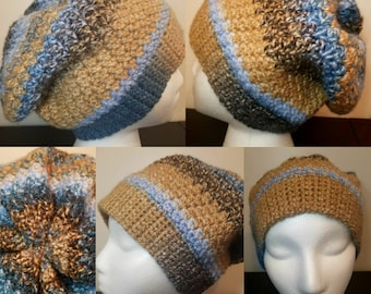 Slouchy Beanie, Crochet Hat, Slouchy Hat, Slouch Style Hat, Crochet Beanie, Chunky Hat, Winter Hat, Chunky Beanie, Crochet Winter Hat