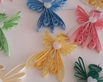 Quilling Angel , Quilling Art, Ornament Quilled, Paper Angel, Angel quilling, Home decor, Christmas gift, Christmas ornament, Hanging Decor,