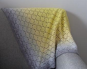 PDF Pattern - Dainty Diamonds Crochet Blanket Pattern - Easy / Intermediate - Instant Download