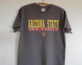 Vintage T Shirt Arizonza State  University ASU PAC 12 Sun Devils size M