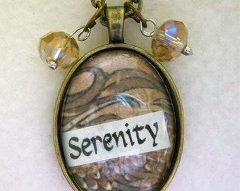 Serenity - Healing Art Necklace, No.33