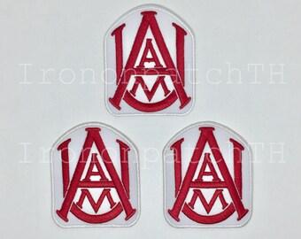 Alabama A&M Bulldogs Embroidered Iron On Patch - Set 3 PCS.
