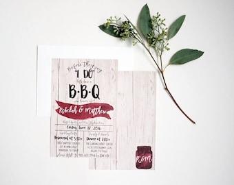 Printable I Do BBQ, Rehearsal Dinner Invitation, Digital Download