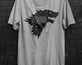 GAME OF THRONES Winter is Coming Grey Marle T-shirt House St