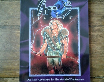 1993 Chaos Factor World of Darkness/ Storyteller Role Playing Adventure Book.  NM. White Wolf Game Studio